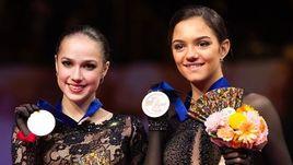 22 марта. Сайтама. Алина Загитова (в центре) с Евгенией Медведевой (справа) и Элизабет Турсынбаевой.