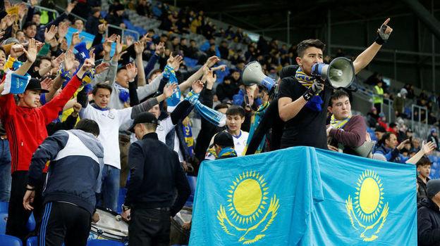 21 марта. Нур-Султан. Казахстан - Шотландия - 3:0. Болельщики хозяев. Фото Reuters