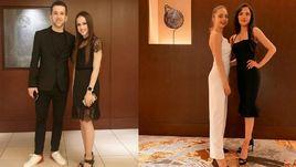 Алина Загитова и Евгения Медведева на вечере закрытия чемпионата мира-2019.