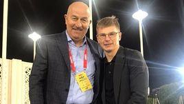 Главный тренер сборной России Станислав Черчесов (слева) и Андрей Аршавин.