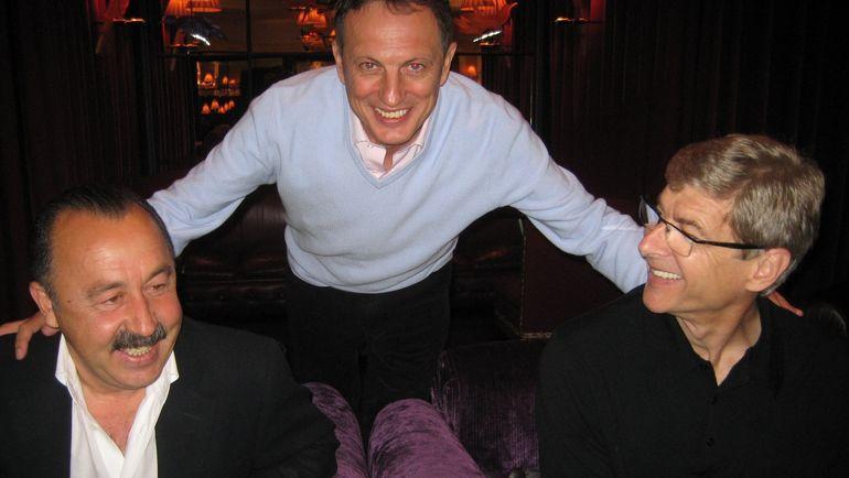 2007 год. Шандор Варга (в центре) с Валерием Газзаевым (слева) и Арсеном Венгером. Фото Борис Тосунян