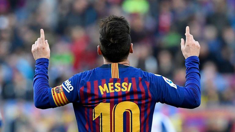 """30 марта. Барселона. """"Барселона"""" - """"Эспаньол"""" - 2:0. Лионель Месси. Фото AFP"""