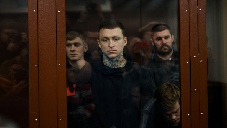 """Кирилл Кокорин, Павел Мамаев, Александр Протасовицкий и Александр Кокорин (слева направо). Фото Дарья Исаева, """"СЭ"""""""