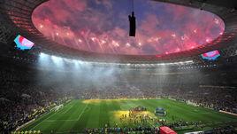 """15 июля 2018 года. Москва. Франция - Хорватия - 4:2. Стадион """"Лужники""""."""