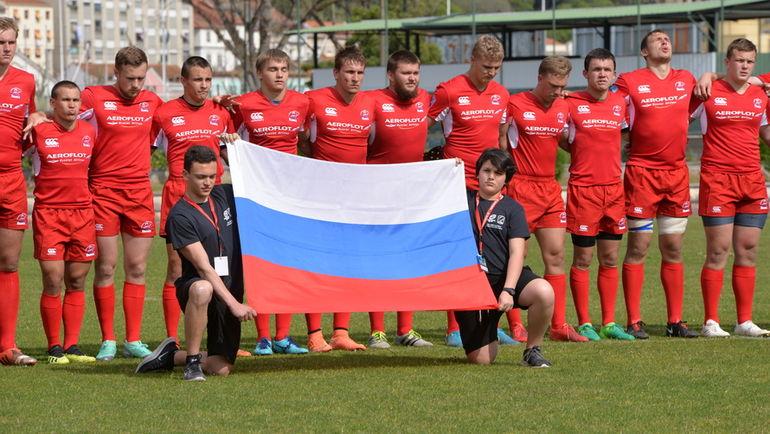 Игроки юниорской сборной России. Фото Пресс-служба Федерации регби Португалии