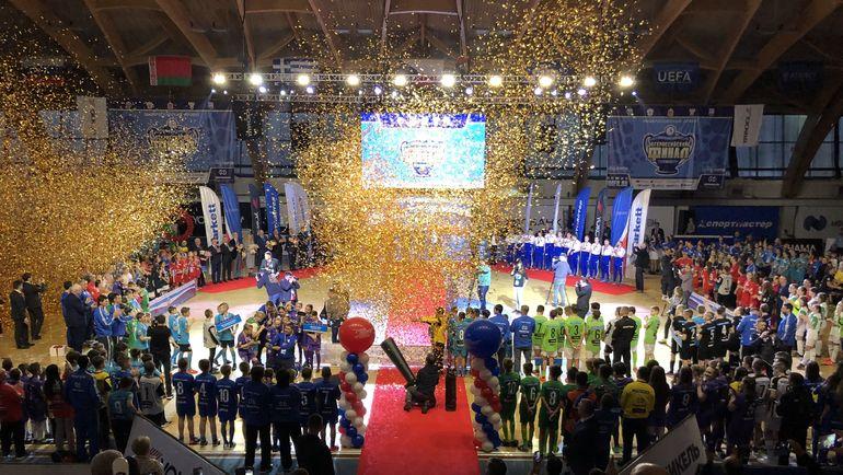 """Церемония награждения 14-го сезона проекта """"Мини-футбол - в школу"""". Фото АМФР"""
