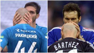 Поцелуи Оздоева помогают Ракицкому забивать голы. Ритуал Лорана Блана работает и в РПЛ
