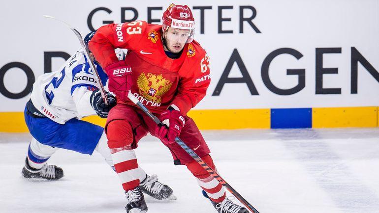 На ЧМ-2018 Евгений Дадонов так и остался самой большой звездой НХЛ в сборной России. Фото AFP