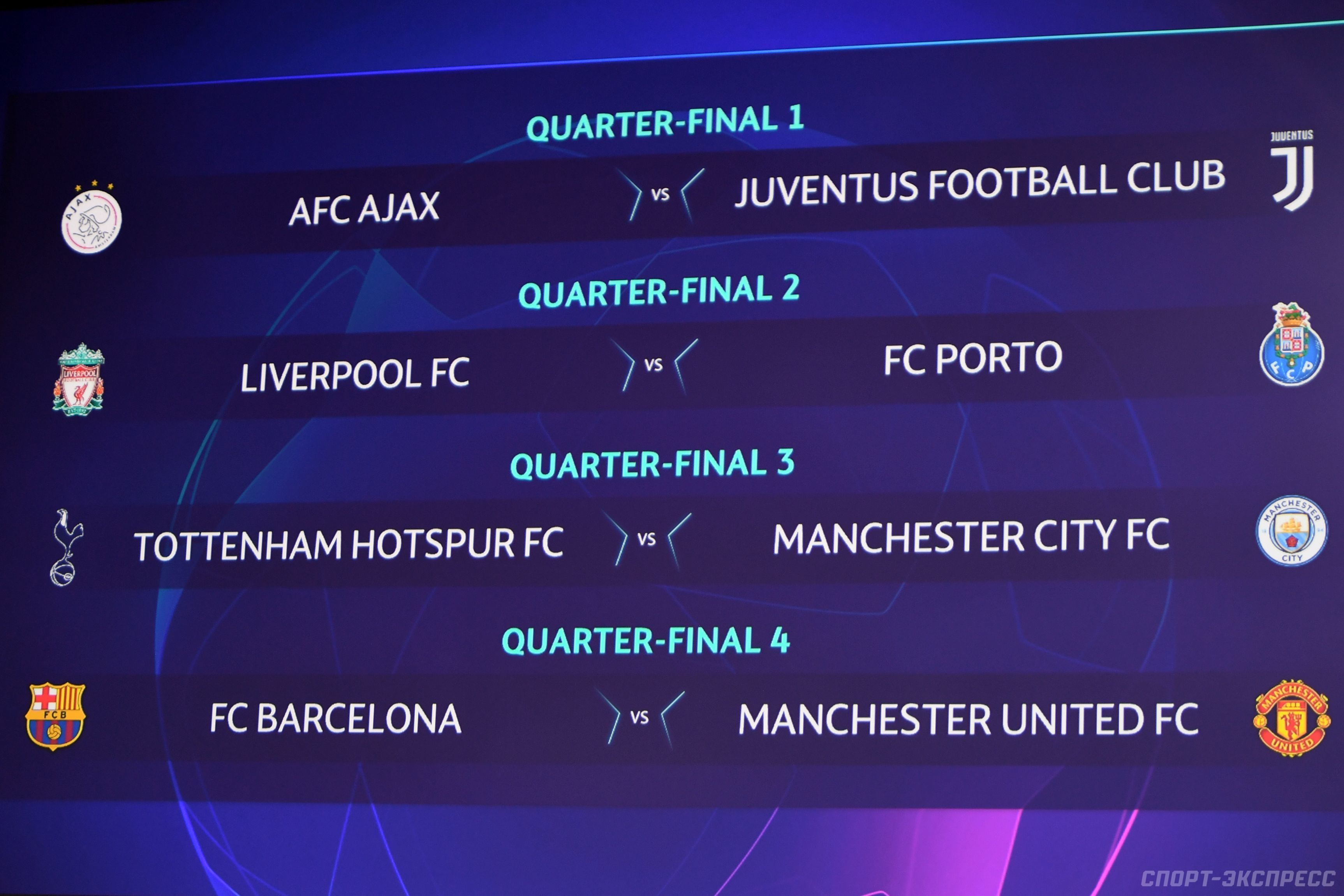 Расписание матчей Лиги Чемпионов плей-офф на 16 и 17 апреля 2019