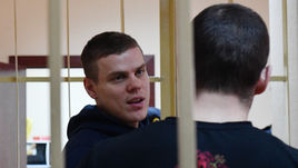 9 апреля. Москва. Александр Кокорин и Павел Мамаев на заседании суда.