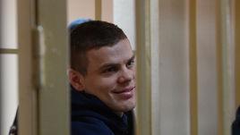 Александр Кокорин в зале Пресненского суда.