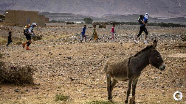10 апреля. Марокканский марафон проходит в одном из самых негостеприимных климатов мира. Фото AFP