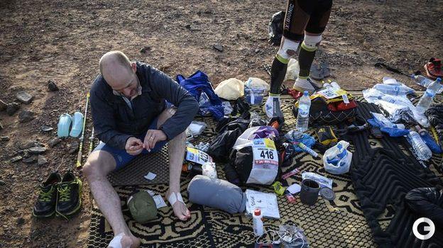 10 апреля. Марокканский марафон. Во время минуты отдыха. Фото AFP