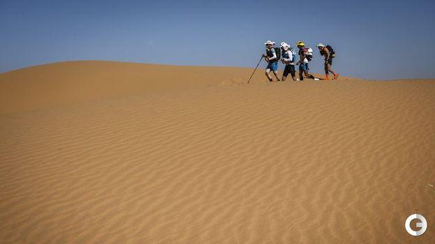 10 апреля. Марокканский марафон. На пути к финишу. Фото AFP