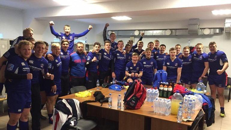 Сборная России вышла в полуфинал чемпионата Европы U18. Фото twitter.com/RugbyRussia