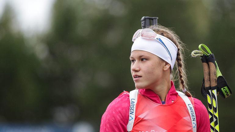 Кристина Резцова. Фото Союз биатлонистов России/biathlonrus.com