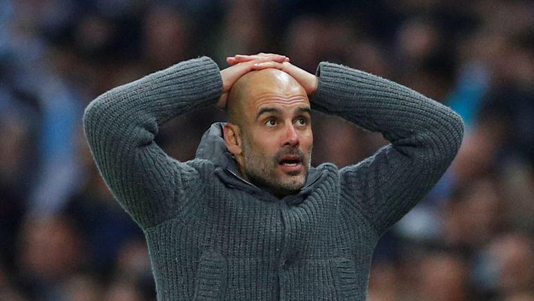 """17 апреля. Манчестер. """"Манчестер Сити"""" - """"Тоттенхэм"""" - 4:3. 90+3-я минута.  Команда Пепа Гвардьолы снова не вышла в полуфинал. Фото REUTERS"""