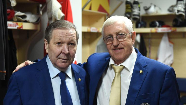 Александр Мальцев (слева) и Борис Михайлов. Фото Владимир Беззубов, photo.khl.ru