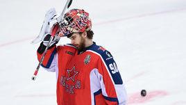 5 апреля. Москва. ЦСКА - СКА - 3:0. Илья Сорокин по окончании матча.