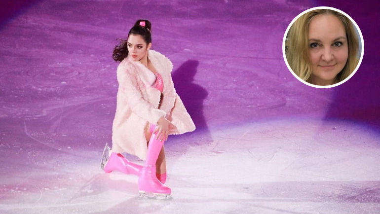 Модный приговор эксперта для костюма Евгении Медведевой.