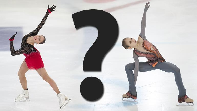 "Алина Загитова (слева), Александра Трусова (справа) - кто еще представит Россию в ""Гран-при"" в следующем сезоне?"