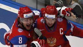 2010 год. Александр Овечкин и Илья Ковальчук на чемпионате мира в Германии.
