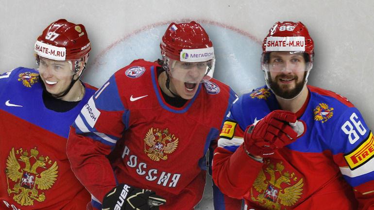 """Никита Гусев, Евгений Малкин, Никита Кучеров. Фото """"СЭ"""""""