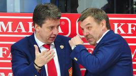 Харийс Витолиньш (слева) и Олег Знарок.