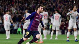 """1 мая. Барселона. """"Барселона"""" - """"Ливерпуль"""" - 3:0. 82-я минута. Лионель Месси оформил дубль, забив свой 600-й гол за каталонскую команду."""