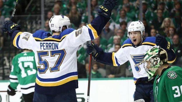 """Сент-Луис"" празднует победу. Фото НХЛ."