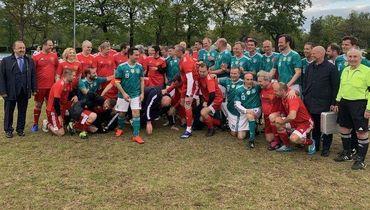 Российские депутаты победили немцев в футбольном матче в Берлине