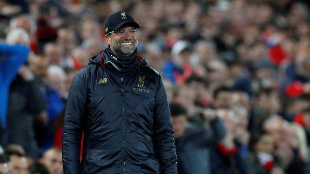 """7 мая. Ливерпуль. """"Ливерпуль"""" – """"Барселона"""" – 4:0. Юрген Клопп. Фото Reuters"""