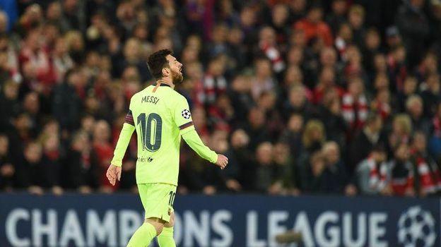 """7 мая. Ливерпуль. """"Ливерпуль"""" – """"Барселона"""" – 4:0. Лионель Месси. Фото AFP"""
