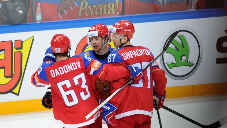 Евгений Дадонов, Артемий Панарин, Вадим Шипачев. Фото Алексей Иванов