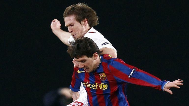Александр Глеб и Лионель Месси. Фото Reuters
