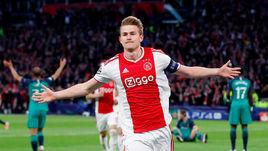"""8 мая. Амстердам. """"Аякс"""" - """"Тоттенхэм"""" - 2:3. Маттей де Лигт празднует гол."""