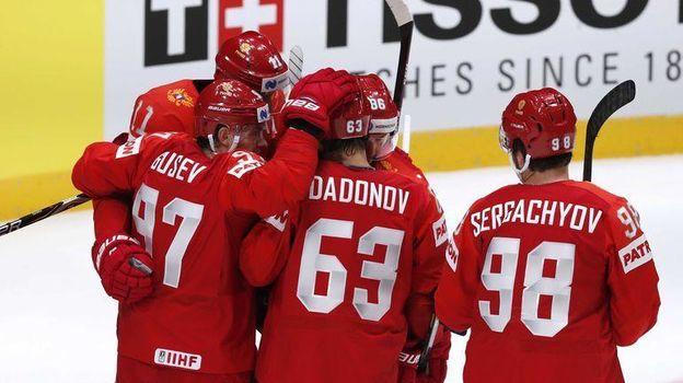 10 мая. Братислава. Россия - Норвегия - 5:2. Россияне начали чемпионат мира с победы. Фото Reuters