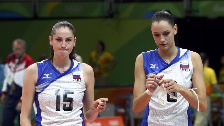 Татьяна Кошелева (слева) и Наталия Гончарова точно пропустят стартовые этапы Лиги наций. Фото REUTERS