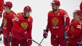 Александр Овечкин (№8) и Евгений Малкин (№11) в матче с Австрией сыграли вместе.