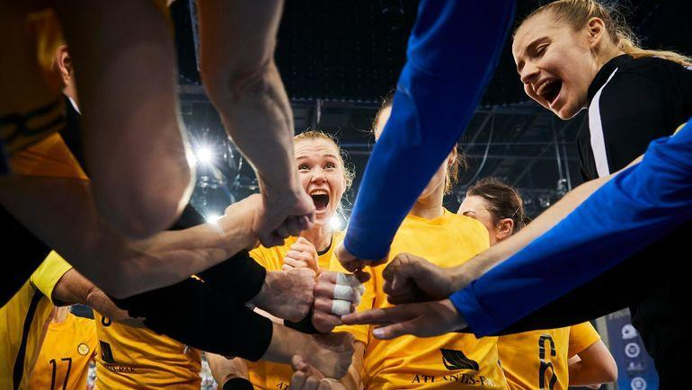 """""""Ростов-Дон"""" не выиграл Лигу чемпионов, но показал себя командой, способной взять эту вершину в ближайшее время. Фото Пресс-служба Федерации гандбола России"""