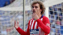 """4 мая. Барселона. """"Эспаньол"""" - """"Атлетико"""" - 3:0. Антуан Гризманн после упущенного момента в игре."""