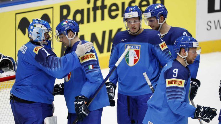 Сборной Италии по хоккею будет очень сложно сохранить прописку в лиге А. Фото REUTERS