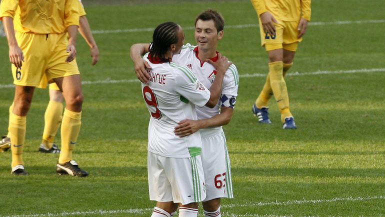 Питер Одемвингие и Динияр Билялетдинов. Фото Алексей Иванов