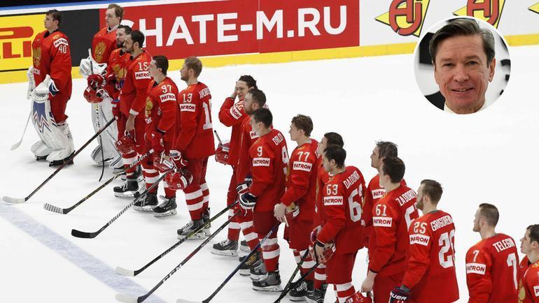Сборная России и Вячеслав Быков. Фото Reuters