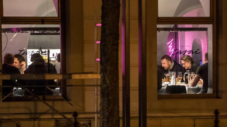 Сборная России по хоккею в ресторане в Братиславе. Фото sport24.pluska.sk