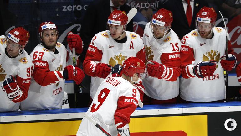 18 мая. Братислава. Латвия - Россия - 1:3. Дмитрий Орлов провел первую шайбу россиян.