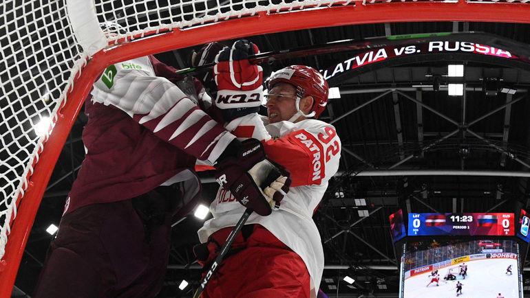 18 мая. Братислава. Латвия - Россия - 1:3. Евгений Кузнецов был одним из самых активных на льду. Фото REUTERS