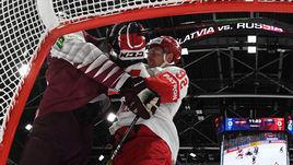 18 мая. Братислава. Латвия - Россия - 1:3. Евгений Кузнецов был одним из самых активных на льду.