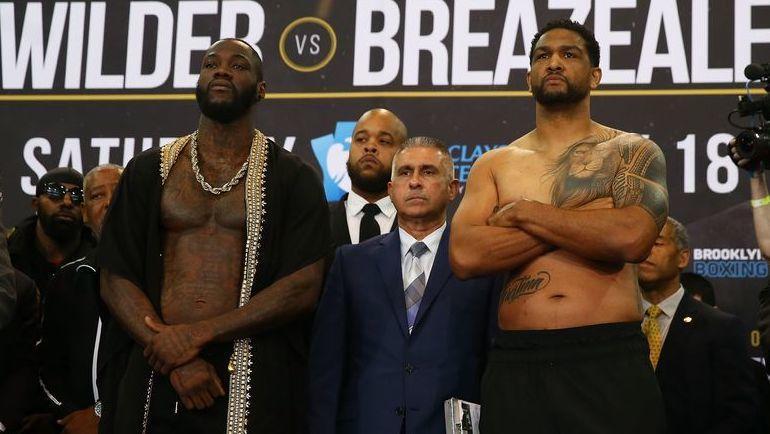 Деонтей Уайлдер vs Доминик Бризил. Фото AFP