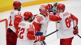 19 мая. Братислава. Швейцария - Россия - 0:3. Россияне празднуют победу.